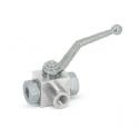 Ball valve 3-way high pressure