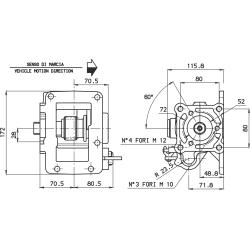 Prese di forza - PZB - 4279F673P42 PTO LAT. L. D. MITSUBISHI MO35S5 CAST IRON