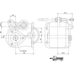 Prese di forza - PZB - 32853111P42 PTO LAT. 3F NISSAN-MOTOR IBERICA - TURNER T5S-01002 (T5-100)