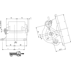Power take-offs - PZB - 32836111P42 PTO LAT. 3F NISSAN MTS 60A - MTS 60C