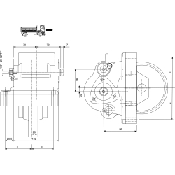 Power take-offs - PZB - 32837111P42 PTO LAT. 3F ISUZU MAG - MAL - MJA