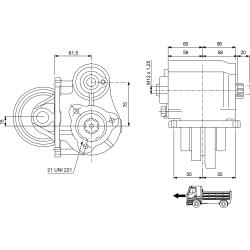 Power take-offs - PZB - 32242210P42 PTO LAT. 3F ZF 5-24