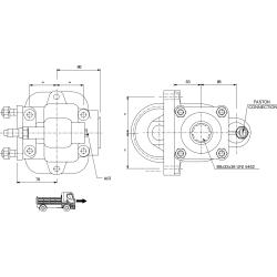 Power take-offs - PZB - 32844110P62 PTO LAT. IVECO 2865.6