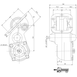 Power take-offs - PZB - 32156111P41 PTO LAT. VEL. SAE 6F ATT. 3F FULLER