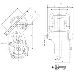 Power take-offs - PZB - 32156111P42PTO LAT. VEL. SAE 6F ATT. 3F FULLER