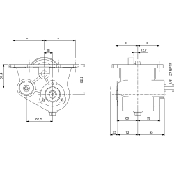 Power take-offs - PZB - 32311110F02 PTO INF. SAE 8F ATT. 3F FULLER-IHC-MACK-WHITE-SPICER