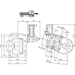 Power take-offs - PZB - 32856111P42 PTO LAT. L. D. NISSAN M5-35