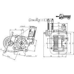Power take-offs - PZB - 3298D693P42 LAT. L. D. Z.F S6-420 (DX)