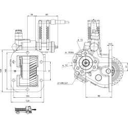 Power take-offs - PZB - 32858233P42 PTO LAT. L. S. NISSAN M5-35A / M5-40A