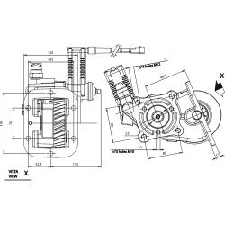Power take-offs - PZB - 3298A23DP43 PTO LAT. L. S. IVECO 2840.6
