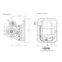 Power take-offs - PZB - 42262115P42 PTO LAT. L. D. MITSUBISHI M200S16