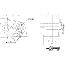 Power take-offs - PZB - 32177110P41PTO LAT. ATT. 3F IVECO 1.128.060. LATO DX