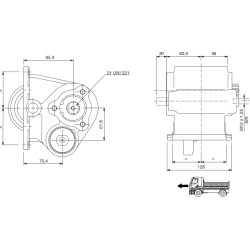 Power take-offs - PZB - 32177110P42 LAT. ATT. 3F IVECO 1.128.060. LATO DX