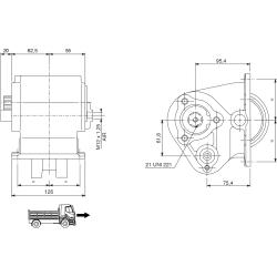 Power take-offs - PZB - 32542110P42 PTO LAT. 3F MERCEDES G2/24