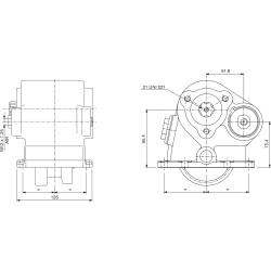 Prese di forza - PZB - 32663110F22  PTO LAT. ATT. 3F RENAULT B6-69 - B6-85 (G406)
