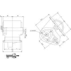 Power take-offs - PZB - 32866110P42 PTO LAT. EATON FS 5005 A/B/C - FS 5205 A/B/C PORTEL. LATO SX