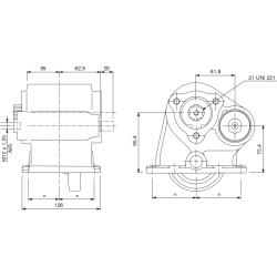Power take-offs - PZB - 42154110P42 PTO LAT. ATT. 3F X PTO INTEGRALI 42589 - 42580