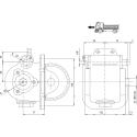 Power take-offs - PZB - 32814111P42 PTO LAT. USCITA 3F POST. MITSUBISHI M4S5-M5S5-M6S6-M050-M060
