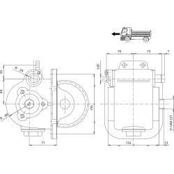 Power take-offs - PZB - 32814321P42 PTO LAT. USCITA 3F POST. MITSUBISHI M4S5-M5S5-M6S6-M050-M060