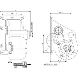 Power take-offs - PZB - 32638111P62 PTO LAT. H.D. SCANIA GR 870-871 rapp. 1:1