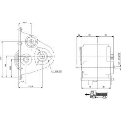 Power take-offs - PZB - 32634110P42 PTO LAT. SCANIA GR 880 - GRH 880