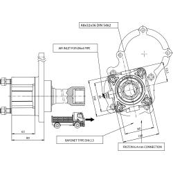 Power take-offs - PZB - 320E1115P82 PTO POS. H. D. EATON TWIN-SPLITTER