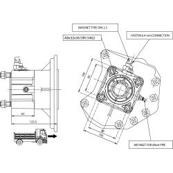 Power take-offs - PZB - 320M1110P82 PTO POS. H. D. MERCEDES G240(ACTROS)