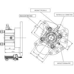 Power take-offs - PZB - 320M3110P82 PTO POS. H. D. MERCEDES G100 (ATEGO)