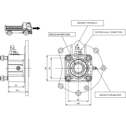 Power take-offs - PZB - 320M4110P82 PTO POS. H. D. MERCEDES G60