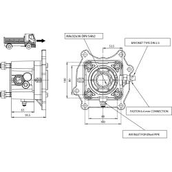 Power take-offs - PZB - 320M7115P82 PTO POS. H. D. MERCEDES G56-6