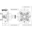 Prese di forza - PZB - 320V1115P82 PTO POS. H. D. VOLVO SR1000 - SR 2000