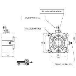 Power take-offs - PZB - 320Z1125P82 PTO POS. H. D. Z.F 6.80 - 16S221