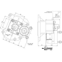 Power take-offs - PZB - 422M112AP82 PTO POS. L. D. MERCEDES G240 (ACTROS)