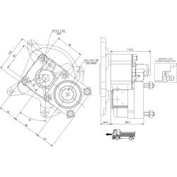 Power take-offs - PZB - 422M2120P62 PTO POS. L. D. MERCEDES G4