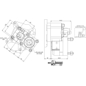 Power take-offs - PZB - 422M3120P42 PTO POS. L. D. MERCEDES G100 (ATEGO)