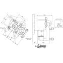 Prese di forza - PZB - 422M3120P62 PTO POS. L. D. MERCEDES G100 (ATEGO)