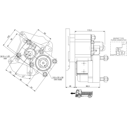 Power take-offs - PZB - 422M3120P82 PTO POS. L. D. MERCEDES G100 (ATEGO)