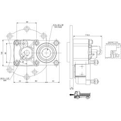 Prese di forza - PZB - 422M4120P82 PTO POS. L. D. MERCEDES G60.6