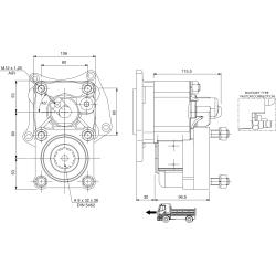 Power take-offs - PZB - 422M5120P82 PTO POS. L. D. MERCEDES G3