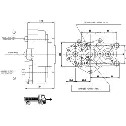 Power take-offs - PZB - 323M5110878 PTO POS. L. D. D.U. MERCEDES G3