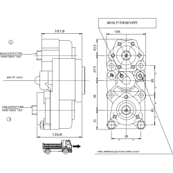Power take-offs - PZB - 323W1110878 PTO POS. L. D. D.U. VOLKSWAGEN 007.1