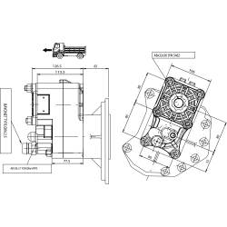 Power take-offs - PZB - 424M1125FB2 PTO POS. H. D. MERCEDES ACTROS