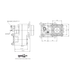 Power take-offs - PZB - 424V8115F22 PTO POS. H.D. VOLVO VT/C