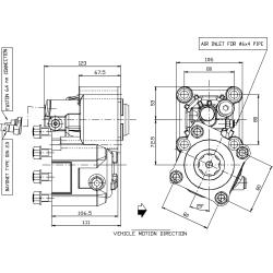 Power take-offs - PZB - 426M211AP62 PTO POS. M. D. MERCEDES G240 (ACTROS)