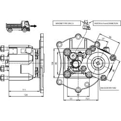 Prese di forza - PZB - 426MM110P62 PTO POS. M. D. MERCEDES G60-G85