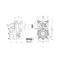 Power take-offs - PZB - 429VM113F22 PTO POS. VOLVO AT 2412 C