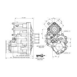 Power take-offs - PZB - 421SA115U61 PTO POS. H. D. D.U. SCANIA GR 875