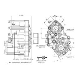 Power take-offs - PZB - 421SB115U61 PTO POS. H. D. D.U. SCANIA GR 875