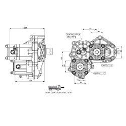 Power take-offs - PZB - 421VB115W11 PTO POS. H. D. D.U. VOLVO VT