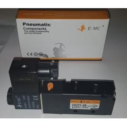 "SOLENOID VALVE 5 WAY 1/4 ""MONOSTABLE EMC EM-V5221-08"